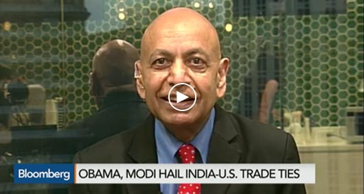 """Obama's Visit to India"" Bloomberg TV"